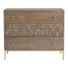 This item: Corolla Gray Three-Drawer Chest