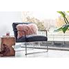 This item: Pink Lamb Fur Pillow Rectangular