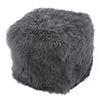 This item: Lamb Fur Pouf Smoke