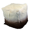 This item: Goat Fur Pouf Cappuccino Ombre