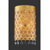 This item: Kingsmont Glitz Gold Leaf Three-Light Wall Sconce