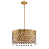 This item: Kingsmont Glitz Gold Leaf 18-Inch Six-Light Pendant