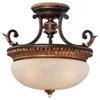 This item: Bella Cristallo French Bronze with Gold Leaf Highlights Three-Light Semi-Flush Mount