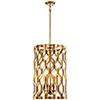 This item: Coronade Pandora Gold Leaf 17-Inch Four-Light Pendant
