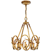 This item: Clairpointe Pandora Gold Leaf Eight-Light Pendant
