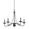 This item: Westchester County Sand Coal And Skyline Gold Leaf Five-Light 28-Inch Chandelier