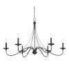 This item: Westchester County Sand Coal And Skyline Gold Leaf Six-Light Chandelier