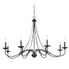 This item: Westchester County Sand Coal And Skyline Gold Leaf Eight-Light Chandelier