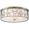 This item: 1845-108 Polished Satin Brass Five-Light Flush Mount