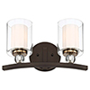 This item: Studio 5 Painted Bronze with Natural Brushed Brass Two-Light Bath Vanity