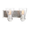 This item: Garrison Brushed Nickel With Shale Wood Two-Light Bath Vanity