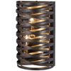 This item: Vortic Flow Dark Bronze with Mosaic Gold Three-Light Wall Sconce