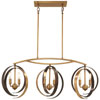 This item: Criterium Aged Brass with Textured Iron Six-Light Island Pendant