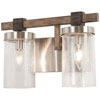 This item: Bridlewood Stone Grey with Brushed Nickel Two-Light Bath Vanity