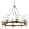 This item: Bridlewood Stone Grey with Brushed Nickel Eight-Light Chandelier