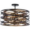 This item: Vortic Flow Dark Bronze with Mosaic Gold Five-Light Semi Flush Mount