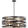 This item: Vortic Flow Dark Bronze with Mosaic Gold 30-Inch Eight-Light Pendant