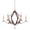 This item: Ava Libertine Pale Gold With Distressed Bronze Six-Light Chandelier