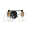 This item: Keyport Sand Coal And Natural Brushed Bronze Two-Light Bath Vanity