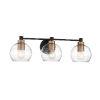 This item: Keyport Sand Coal And Natural Brushed Bronze Three-Light Bath Vanity