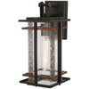 This item: San Marcos Black with Antique Copper Accents 15-Inch One-Light Outdoor Wall Sconce