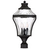 This item: Libre Black Four-Light Outdoor Post Light with Water Glass