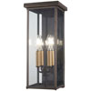 This item: Casway Oil Rubbed Bronze with Gold Highlights 17-Inch Five-Light Outdoor Wall Sconce