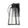 This item: Halder Bridge Matte Black Eight-Inch One-Light Outdoor Wall Lantern