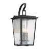This item: Cantebury Black With Gold 11-Inch Four-Light Outdoor Wall Mount