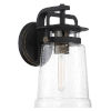This item: Sand Coal And Gold One-Light 7-Inch Outdoor Wall Mount