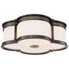 This item: Harvard Court Bronze 16-Inch LED Flush Mount with Etched White Glass
