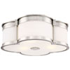 This item: Polished Nickel 16-Inch LED Flush Mount with Etched White Glass