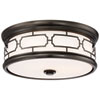 This item: Lattice Drum Bronze 16-Inch LED Flush Mount with Opal Glass