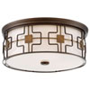 This item: Dark Brushed Bronze and Aged Brass 16-Inch LED Flush Mount