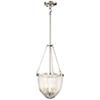 This item: Atrio Brushed Nickel 11-Inch Three-Light Pendant