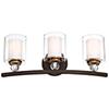 This item: Studio 5 Painted Bronze 24-Inch Three-Light Bath Light