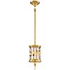 This item: Olivetas Il Terrace Gold Leaf 6-Inch One-Light Mini Pendant