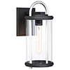 This item: Keyser Black and Silver 14-Inch One-Light Outdoor Wall Lantern