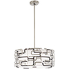 This item: Alecias Tiers Brushed Nickel and Bronze Patina 20-Inch LED Pendant