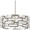 This item: Alecias Tiers Brushed Nickel and Bronze Patina 25-Inch LED Pendant