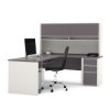 This item: Connexion Slate and Sandstone L-Shaped Workstation Kit with Hutch