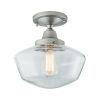 This item: Schoolhouse Brushed Nickel 10-Inch One-Light Semi Flush Mount