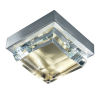 This item: Crystal Brushed Nickel and Satin Brass LED Flush Mount