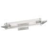 This item: Faceted Brushed Nickel Two-Light 24-Inch Wall Sconce