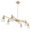 This item: Carnival Satin Brass Six-Light Chandelier