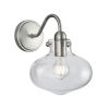 This item: Clara Brushed Nickel Eight-Inch One-Light Wall Sconce