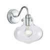 This item: Clara Chrome Eight-Inch One-Light Wall Sconce