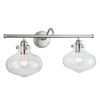 This item: Clara Brushed Nickel 23-Inch Two-Light Wall Sconce
