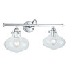 This item: Clara Chrome 23-Inch Two-Light Wall Sconce