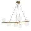 This item: Perch Satin Brass Eight-Light Chandelier